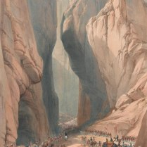 Entrance to the Bolan Pass from Dadur by James Atkinson, 1842