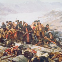 Last Stand of 44th Regiment near Kabul in 1842 by W.B. Wollen, 1898