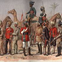 Sepoys of the Madras Army, early 1800s