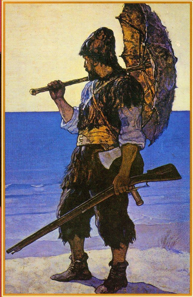 Robinson_Crusoe_Wyeth_1920