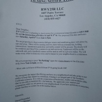 Filming notices are frequently seen on L.A. landmarks.