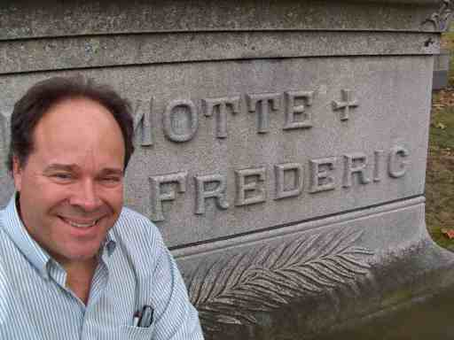 Bill Kauffman visits the grave of Harold Frederic