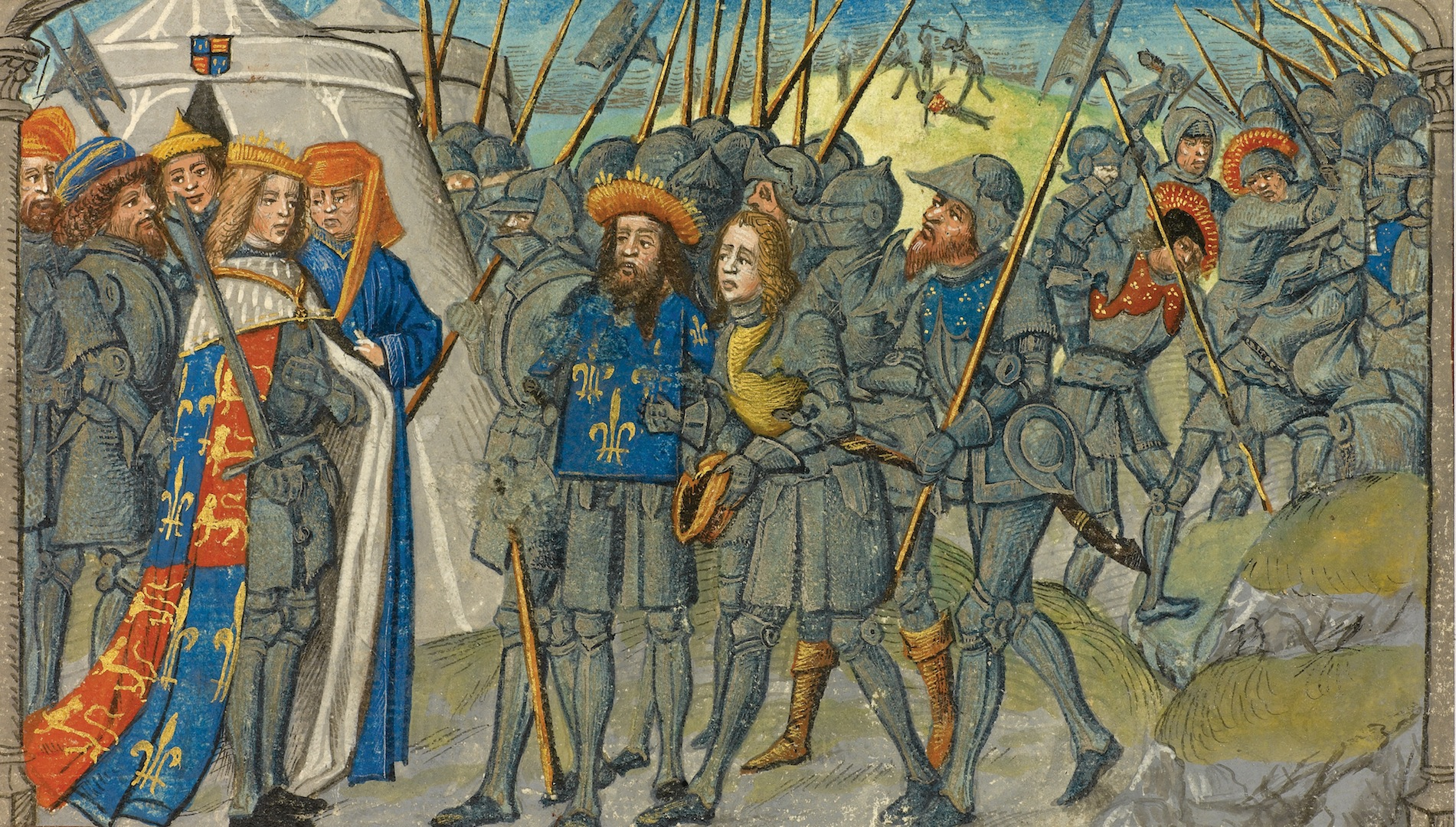 hundred years war Hello dudes here is the mod for mount & blade warband that focuses the hundred years war that was between english kingdom and french kingdom i'm not the developer it first develop by llew2 i decide to do some reworks on textures then release it here thanks for reading have fun and enjoy.