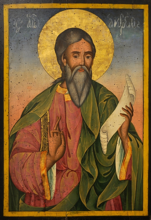 Saint Andrew the Apostle by Yoan from Gabrovo, 19th century