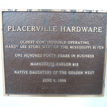 Lots of plaques around town commemorating historic sites.