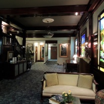 The lobby of the Cary House Hotel.