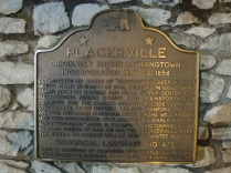 The plaque that designates the city as a landmark.