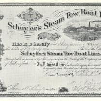 Samuel B. Schuyler's Stock Share, c.1873