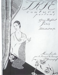 An Irfé perfume advertisement from 1926.
