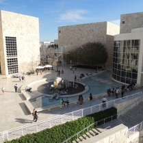 The courtyard itself. From left to right are are the museum's east, south, and west pavilions.