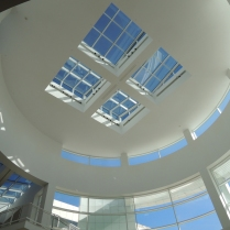 The sunroof/rotunda of the entrance hall. Why put bars on the windows?