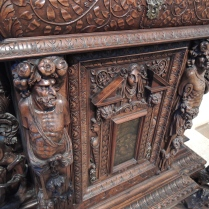 Detail of cabinet, French, c. 1580