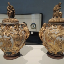 Attributed to Annibale Fontana, a pair of drug jars, Italian, c. 1580