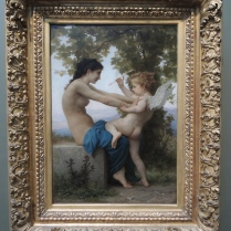 Adolphe William Bouguereau, A Young Girl Defending Herself Against Eros, French, c. 1880