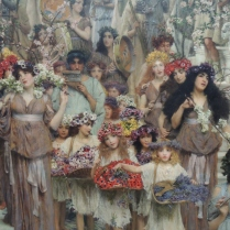 Lawrence Alma-Tadema, detail from Spring, Dutch, 1836