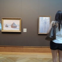 Checking out the Monets. (Creepshot or Not?)