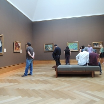The Impressionist gallery: Monet, Gauguin, Pisarro, Van Gogh. The museum's money shot.