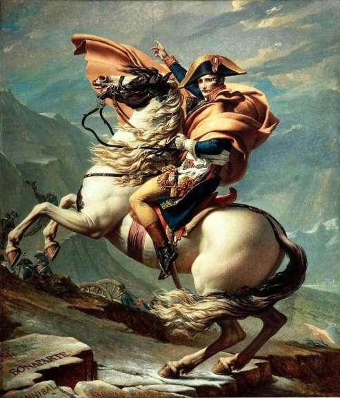 The Corsican in more triumphant times. Portrait by Jacques-Louis David, 1801-1805.