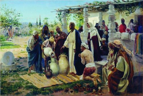 Vladimir Makovsky, Miracle At Cana (1887)
