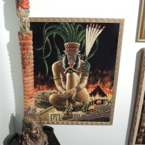 Aztec slave princess. This motif is popular in nearby Olvera Street.