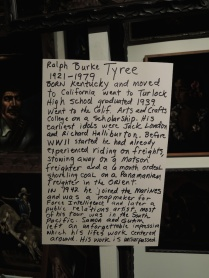 The curators' hand-written notes about the artists.