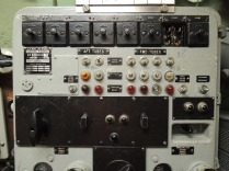The torpedo and missile firing panel. That recessed black toggle switch in the lower right is what launched the nukes.