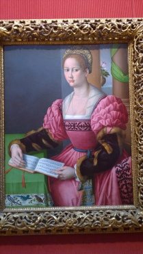 Bacchiacca (Francesco Ubertini), Portrait of a Woman with a Book of Music (1540-45)