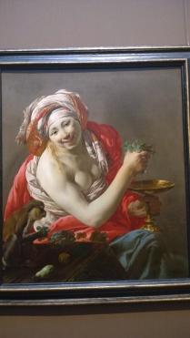 Hendrick Ter Brugghen, Bacchante With an Ape (1627)