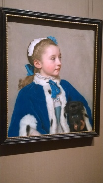 Jean-Étienne Liotard, Portrait of Maria Frederike van Reede-Athlone at Seven Years of Age (c 1755)