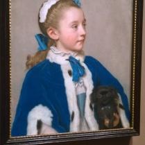 Jean-Étienne Liotard, Portrait of Maria Frederike van Reede-Athlone at Seven Years of Age (c 1755)
