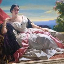 Franz Xaver Winterhalter, Portrait of Princess Leonilla of Sayn-Wittgenstein-Sayn (1843)