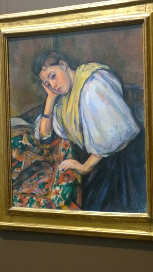 Paul Cézanne, Young Italian Woman at a Table (c1895-1900)