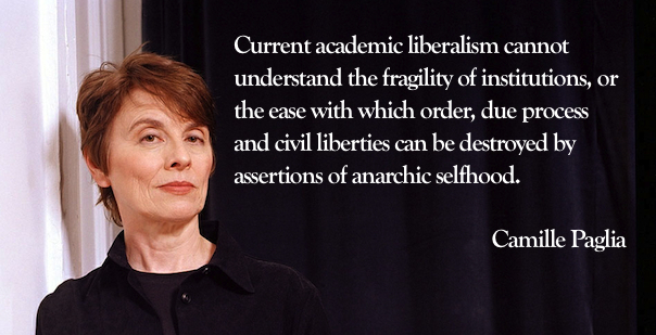 -UNDATED PHOTO- Undated photograph of Prof. Camille Paglia of the University of the Arts in Philadelphia - RTXNNL9