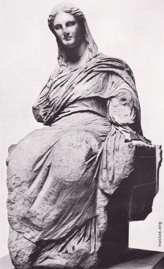 A photograph showing ancient greek art