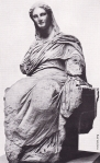 A photograph showing ancient greek art