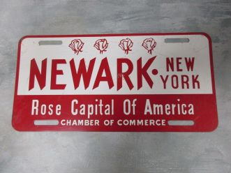 Newark-NY-License-Plate-Rose-Capital-of-America